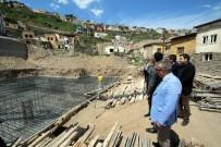 ALİ ATAY - Başkan Özdoğan Okul İnşaatını İnceledi