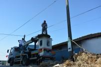 YAVRU LEYLEK - Dikkatsiz Sürücü Leylek Yuvasını Yıktı, Kuşlar Ölümden Döndü