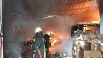 KİRAZLIK MAHALLESİ - Samsun'da İş Yeri Alev Alev Yanıyor
