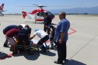KOCA SEYİT - (Özel) Kaynayan Salça Kazanına Düşen Bebek Ambulans Helikopter İle Ankara'ya Sevk Edildi