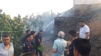 TÜP PATLAMASI - Tarihi Mahalle Birgi'de Korkutan Yangın Açıklaması 1 Yaralı