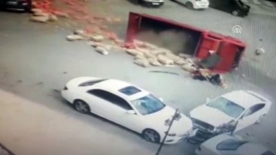 Malatya'daki Trafik Kazası Güvenlik Kamerasında