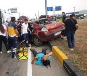 Otomobille Cipin Çarpıştığı Kazada Araçlar Hurdaya Döndü Açıklaması 8 Yaralı