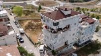 DOĞALGAZ PATLAMASI - Sancaktepe'de Patlamanın Yaşandığı Bina Havadan Görüntülendi