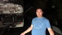 KEMAL ÇETİN - İzmir'de Seyir Halindeki Otobüste Yangın Çıktı