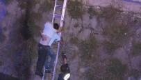 KALABA - Polisten Kaçan Alkollü Sürücü, Çaya Düştü