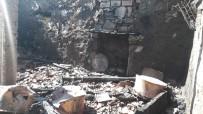 Evde Çıkan Yangında 4 Ton Buğday Küle Döndü