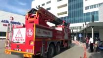 İTFAİYE MERDİVENİ - Boyabat 75. Yıl Devlet Hastanesinde Yangın Tatbikatı