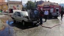 Isparta'da Seyir Halindeki Otomobil Yandı
