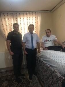 Kaymakam Kaya Ve Komutan Yassıkaya'dan Gazi Musa Asma'ya Ziyaret