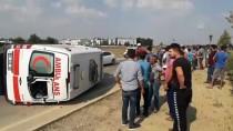 Adana'da Ambulansla Otomobil Çarpıştı Açıklaması 5 Yaralı