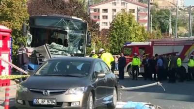 Ankara'da Halk Otobüsü Yayalara Çarptı Açıklaması 3 Ölü