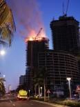 CİDDE - Suudi Arabistan'da İnşaat Halindeki Kulede Yangın
