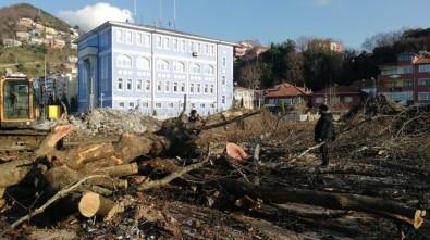 Zonguldak'ta Kazıda Bulunan Top Mermileri İmha Edildi