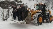 Artvin'de Macahel'e Ulaşım Kar Yağışı İle Birlikte Güçleşti