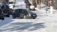 HAYDAR ALİYEV - Kars'ta Yollar Buz Pistine Döndü