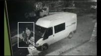 KOZLUCA - İş Yerinin Önündeki Minibüsü Böyle Soydular