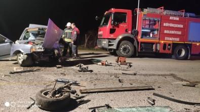 Köşk'te İki Araç Kafa Kafaya Çarpıştı Açıklaması 1 Ölü, 2 Yaralı