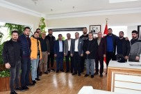 KıRKPıNAR - Başpehlivan Gürbüz'den Başkan Topaloğlu'na Ziyaret