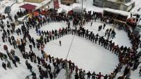 Kar Üstünde Horon Havadan Böyle Görüntülendi
