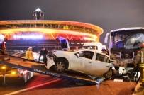 SEYRANTEPE - TEM Otoyolu'nda 6 araç birbirine girdi!