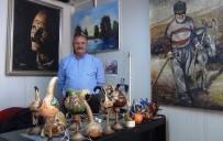 RESSAM - Vanlı Ressam Süs Kabağından Gece Lambası Yapıyor