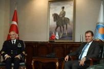 CARETTA CARETTA - Başkan Seçer, NATO Komutanı Fantoni İle Görüştü