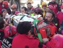 'Azize' enkaz altından 17 saat sonra kurtarıldı