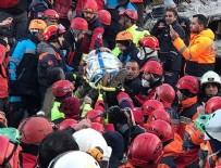 Enkaz altından bir kadın 19 saat sonra sağ çıkarıldı