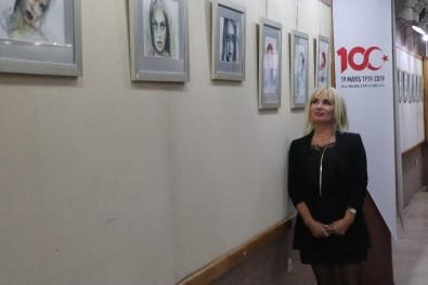 Samsun'da Sulu Boya Portre Sergisi