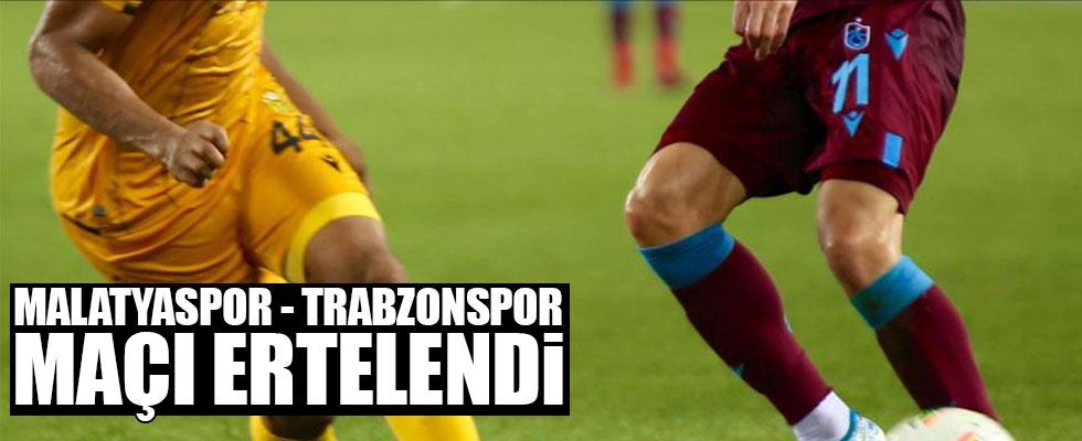 Yeni Malatyaspor-Trabzonspor maçı ileri bir tarihe erteledi