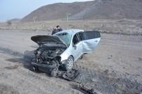 Direksiyon Hakimiyeti Kaybolan Otomobil Yoldan Çıktı Açıklaması 2'Si Çocuk 4 Yaralı