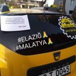TAKSİ ŞOFÖRÜ - Taksi Durağı Bir Günlük Gelirini Elazığ'a Bağışladı
