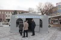 KAPALI ÇARŞI - Malatya'da Deprem Başvuru Çadırı Açıldı