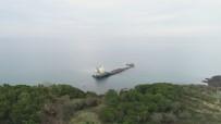 ŞİDDETLİ FIRTINA - (Özel) Şile'de Karaya Oturan Geminin Son Hali Havadan Görüntülendi