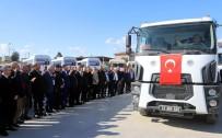 MUHITTIN PAMUK - 11 Kamyondan Oluşan Yardım Konvoyu Akdeniz'den Yola Çıktı