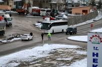HEKİMHAN - Sivas-Malatya Kara Yolu Ulaşıma Kapandı