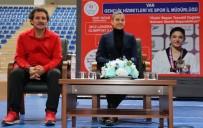 NUR TATAR - Milli Sporcu Nur Tatar Vanlı Tekvandocularla Bir Araya Geldi