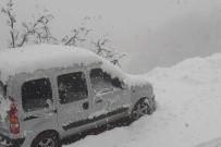 KOZLUCA - Alaşehir'de Kar Yağışı Etkili Oluyor