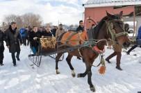 ERZURUM VALISI - Erzurum Valisi Memiş, Atlı Kızağa Binerek Süt Ve Besi Tesislerini İnceledi