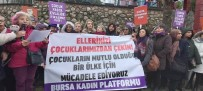 İSTISMAR - Bursa Kadın Platformu Cinsel İstismara Karşı Toplandı
