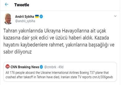 Ukrayna Büyükelçisinden Uçak Kazasına İlişkin Açıklama