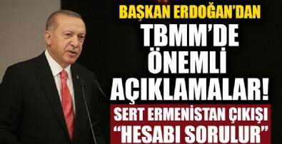 Başkan Recep Tayyip Erdoğan'dan TBMM'de flaş açıklamalar