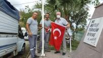 Burhaniye'de Bayraklar Yenilendi