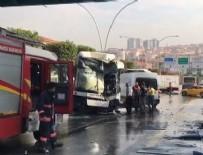 Ankara'da belediye otobüsü üst geçit asansörüne daldı: Çok sayıda yaralı var...