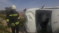 Otomobil Takla Attı Açıklaması 1 Yaralı