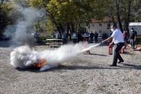 Eğirdir SAREM'de Yangın Söndürme Tatbikatı Yapıldı