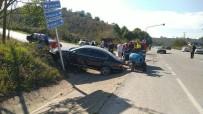 Tarım Aracı İle Otomobil Çarpıştı 1 Kişi Yaralandı