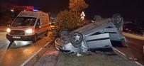 Düzce'de Otomobil Takla Attı Açıklaması 3 Yaralı