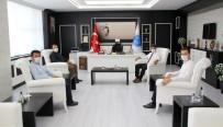 İlçe Kaymakamları Rektörü  Karacoşkun'la Bir Araya Geldiler